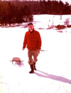 Walter Brooks Macky, Catherine Carr's great grandfather, sledding