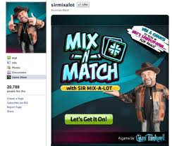 Mix-N-Match with Sir Mix-a-Lot, Facebook Game