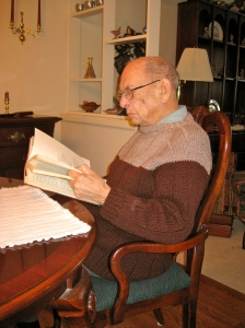 Walter Brooks Macky, Catherine Carr's great grandfather, reading