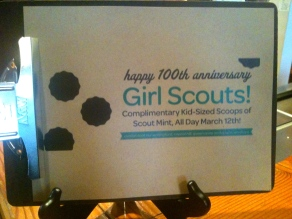 Molly Moon's honors Girl Scout Anniversary