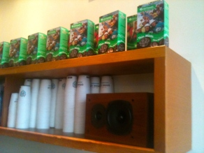 Artful Thin Mint display on Girl Scout Day at Molly Moons