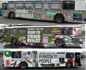 PEMCO Northwest Profiles on Metro buses
