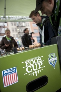 PEMCO hosts the Foos Cup before Sounders FC games