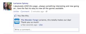 Wonder Forge Facebook Fan