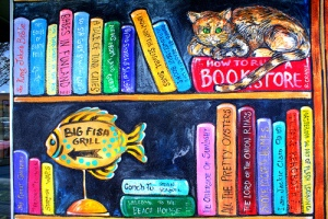 Browseabout Books bookstores Rehoboth Beach bestsellers mural
